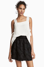 Jacquard-patterned skirt - Black - Ladies | H&M CN 1