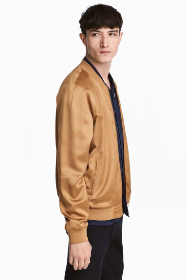 Satin bomber jacket - Camel - Men | H&M