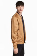 Satin bomber jacket - Camel - Men | H&M 1
