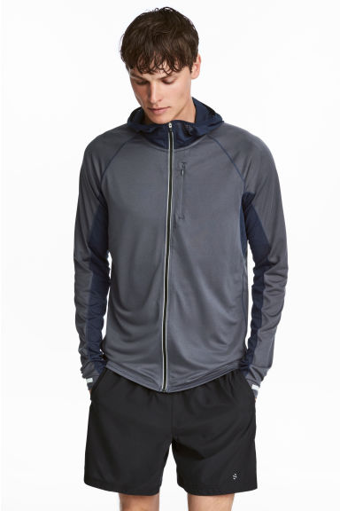 Ultra-light running jacket - Dark grey-blue - Men | H&M