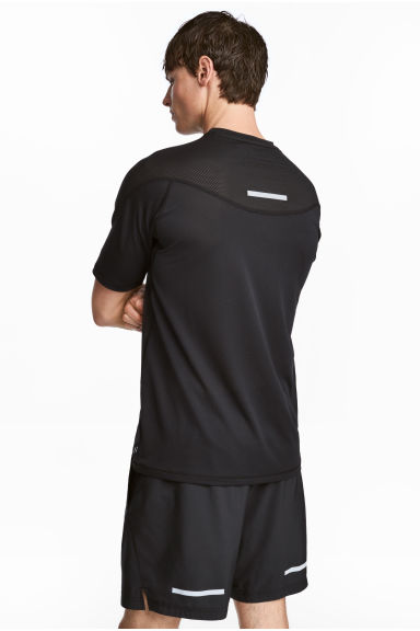 Ultra-light running top - Black - Men | H&M CN