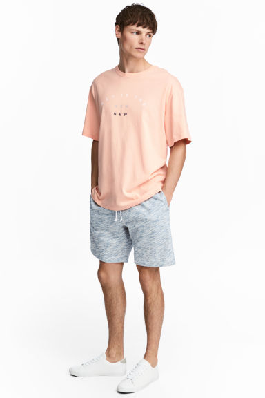 Sweatshirt shorts - Light blue marl - Men | H&M CN