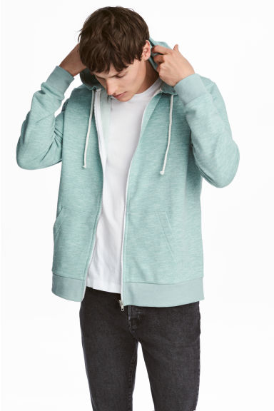 Hooded jacket Regular fit - Mint green - Men | H&M 1
