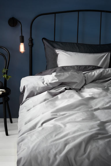 Cotton duvet cover set - Grey - Home All | H&M CN 1