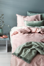 Cotton duvet cover set - Light pink - Home All | H&M CN 1