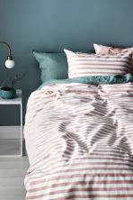 Striped duvet cover set - White/Light pink - Home All | H&M CN 1