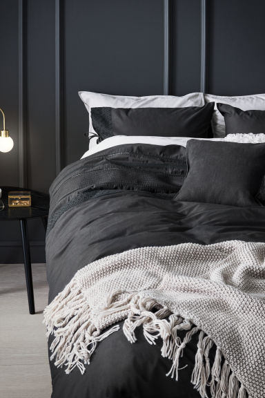 Duvet cover set - Anthracite grey - Home All | H&M CN 1