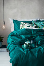 Cotton duvet cover set - Petrol - Home All | H&M GB 1