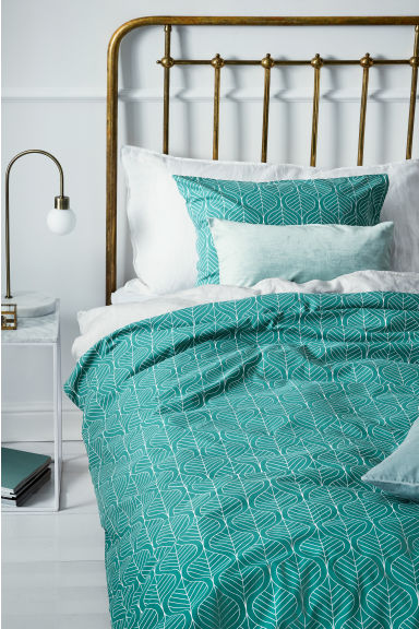 Set copripiumino fantasia - Verde scuro - HOME | H&M IT 1
