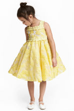 Embroidered tulle dress - Yellow -  | H&M 1