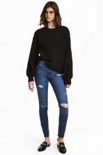 Skinny Regular Jeans - Dark denim blue - Ladies | H&M 1
