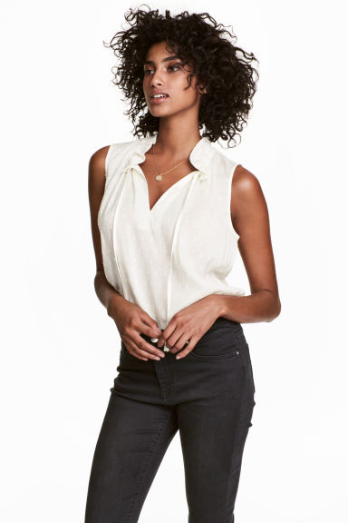 Sleeveless top - White - Ladies | H&M CN 1