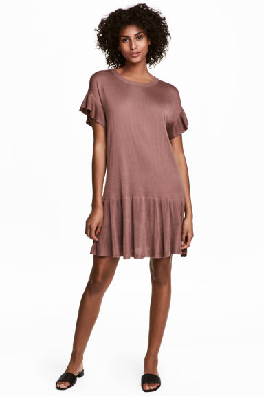 Fine-knit dress - Vintage pink - Ladies | H&M CN 1