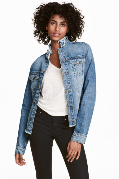 Denim jacket - Denim blue - Ladies | H&M CN 1