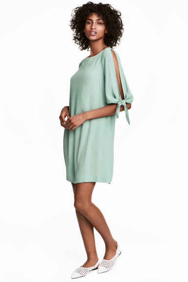 Short dress - Mint green - Ladies | H&M CN