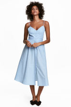 Cotton dress - Light blue/Spotted - Ladies | H&M CN 1