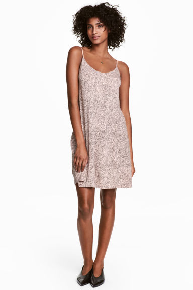 Slip dress - Powder pink/Pattern - Ladies | H&M