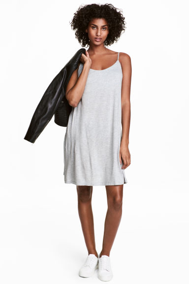 Slip dress - Light grey marl - Ladies | H&M 1