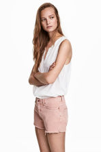 Cotton top with pin-tucks - White -  | H&M CA 1