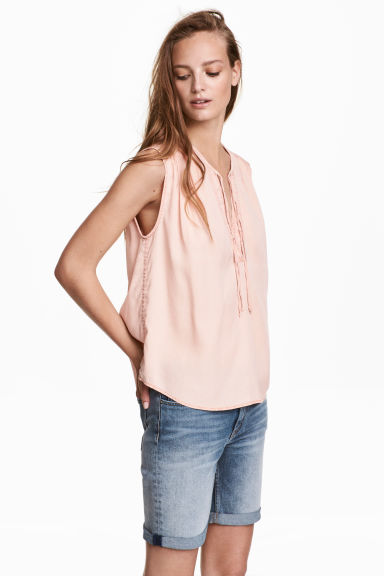 Lyocell top - Powder pink - Ladies | H&M CN