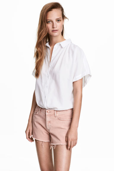 Denim shorts - Powder pink - Ladies | H&M CA 1