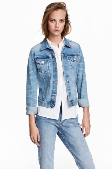 Denim jacket - Denim blue - Ladies | H&M CA 1