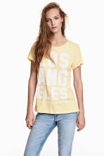 Jersey top - Light yellow/Los Angeles - Ladies | H&M 1