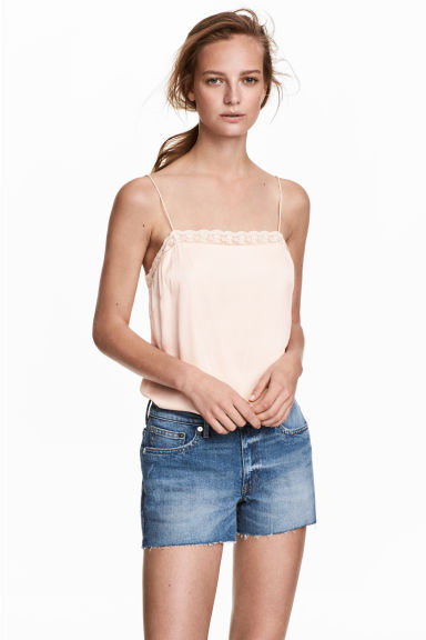 Jeansshort - Denimblauw - DAMES | H&M BE