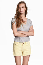 Denim shorts - Light yellow - Ladies | H&M 1