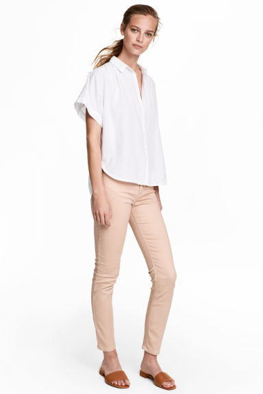 Ankle-length trousers - Light beige - Ladies | H&M CA