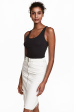 Jersey vest top - Black - Ladies | H&M 1