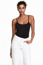 Basic top - Black - Ladies | H&M 1