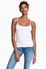 Basic top - White - Ladies | H&M 1