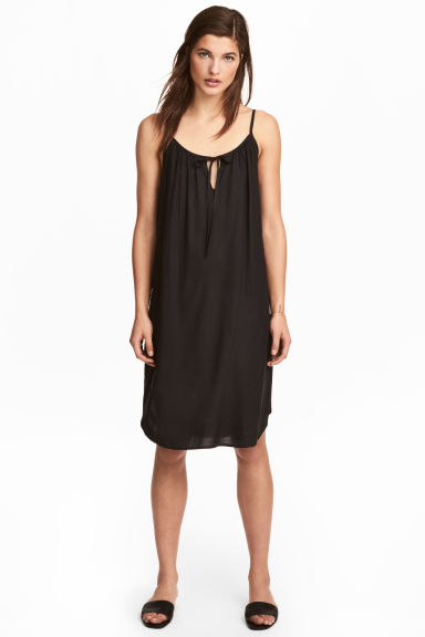 Slip Dress - Black -  | H&M 1