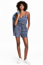 Combi-short à encolure en V - Bleu/cachemire -  | H&M BE 1