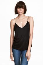 V-neck strappy top - Black - Ladies | H&M CA 1