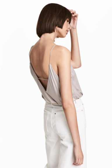 V-neck strappy top - Light mole -  | H&M CN