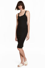 Sleeveless jersey dress - Black - Ladies | H&M GB 1