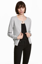 Cotton cardigan - Grey marl - Ladies | H&M 1
