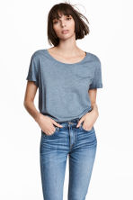 Jersey top - Blue marl - Ladies | H&M CN 1