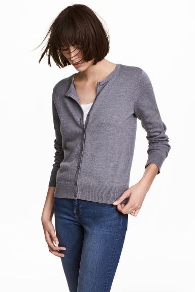 Cotton cardigan - Purple marl - Ladies | H&M CA