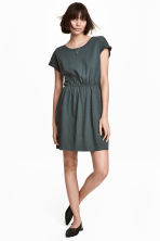 Short-sleeved jersey dress - Petrol marl - Ladies | H&M CN 1