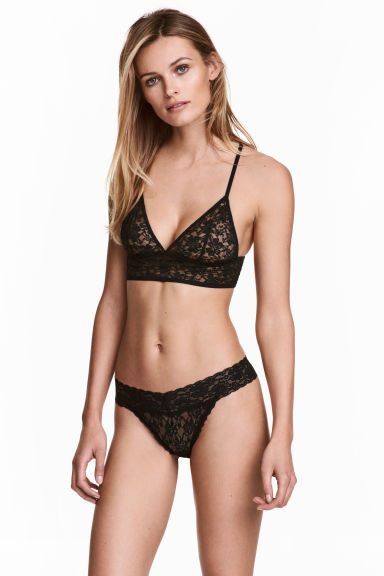 Set van 3 slips - Thong - Zwart - DAMES | H&M BE 1