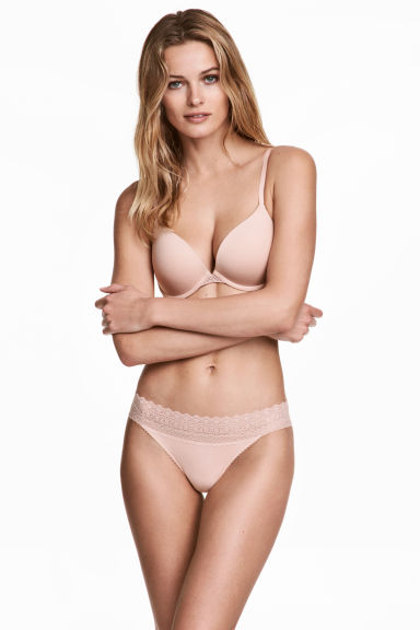 3-pack thong briefs - Powder pink - Ladies | H&M 1