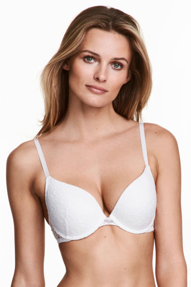 2-pack push-up bras - White/Black - Ladies | H&M