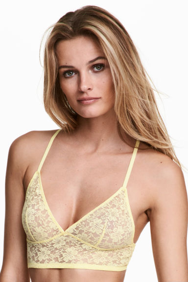 Lace bralette - Yellow - Ladies | H&M 1