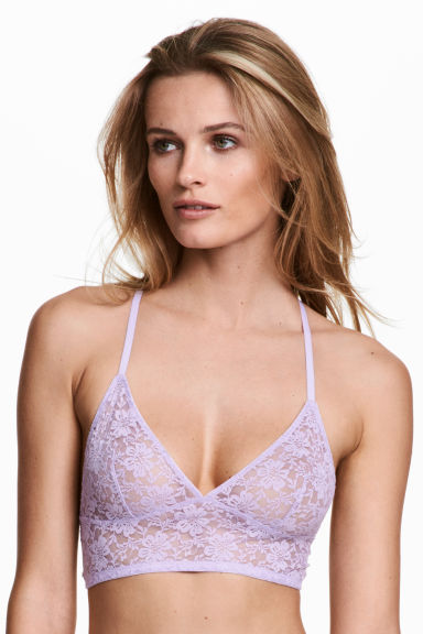 Lace bralette - Lilac - Ladies | H&M