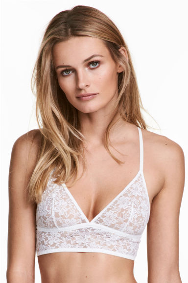 Lace bralette - White - Ladies | H&M 1
