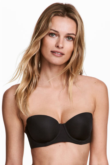 Microfibre balconette bra - Black - Ladies | H&M 1