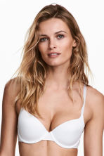 Microfibre T-shirt bra - White - Ladies | H&M CN 1